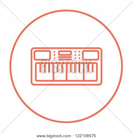 Synthesizer line icon.