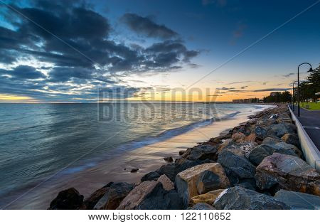 Glenelg Beach at Sunset South Australia. Long exposure camera settings