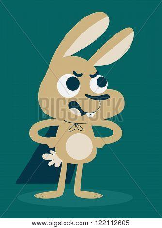 Cute Confident Hero Bunny