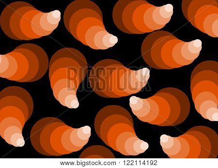 Background with abstract pattern in shades of orange and brown