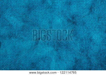 Blue vintage textile texture with a blue screen pattern. Can be also used as background. ** Note: Soft Focus at 100%, best at smaller sizes