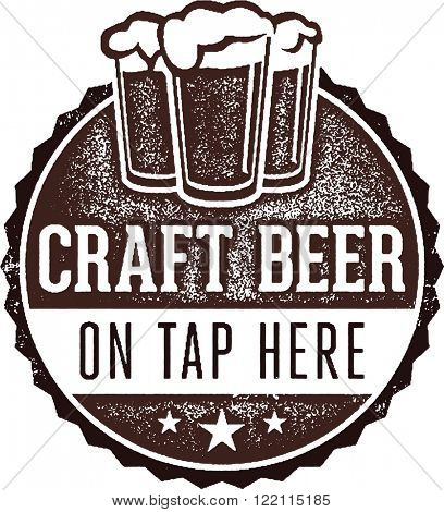 Craft Beer on Tap Here Bar Sign