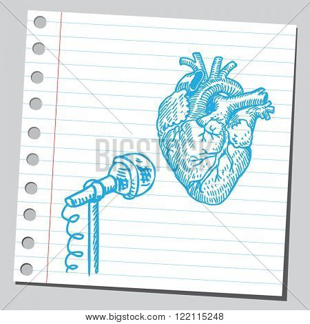 Heart and microphone