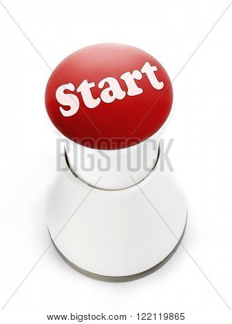 Red push button with Start inscription