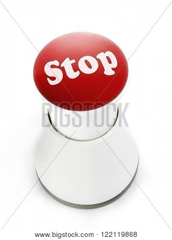Red push button with Stop inscription