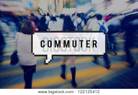 Commuter Passenger Outdoors People Travel Concept