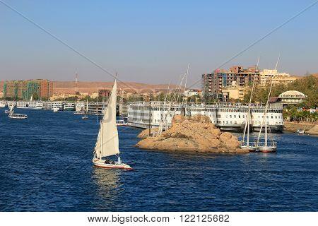Fellucca In Aswan, Egypt