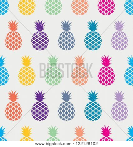 EXOTIC PINEAPPLE PATTERN. Editable and repeatable vector illustration file. For prints, craft, decor, fashion and more...