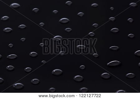 The pattern of water droplets on a black background.