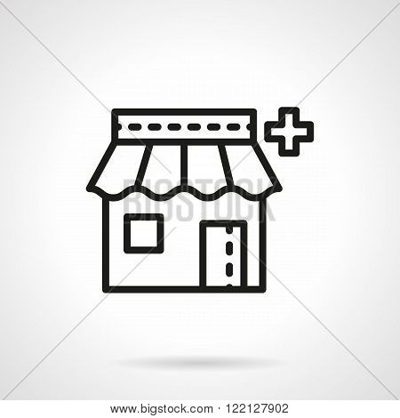 Pharmacy icon black line vector icon