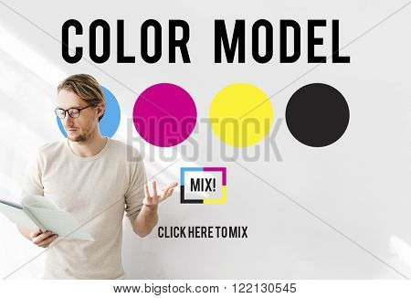 Color Design Model Art Paint Pigment Motion Concept