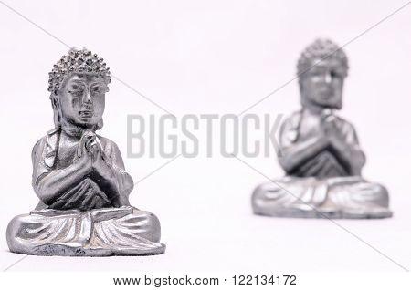 Oriental Asian Statue on a White Background