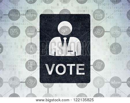 Political concept: Ballot on Digital Paper background