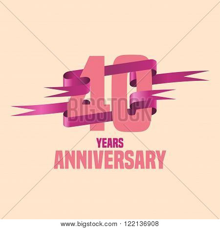 Vector design for Forty years anniversary celebration