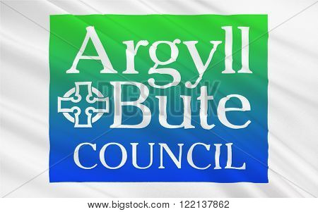 Flag of Argyll and Bute is both one of 32 unitary authority council areas; and a Lieutenancy area in Scotland