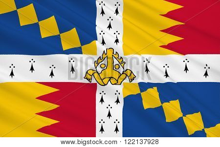Flag City of Birmingham is a city and metropolitan borough in the West Midlands England.