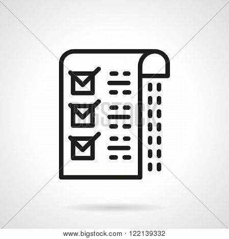 Medical checklist black line vector icon
