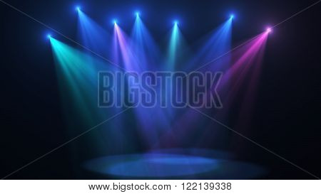 Concert stage color lights (very high resolution)
