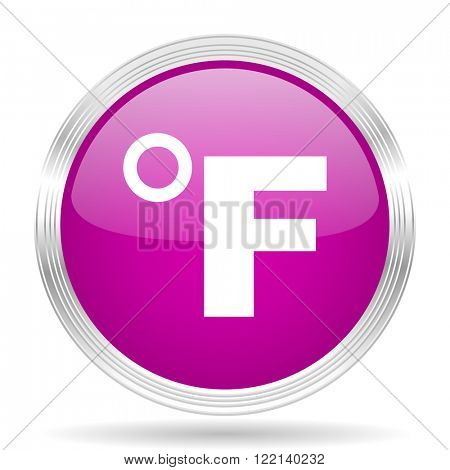 fahrenheit pink modern web design glossy circle icon