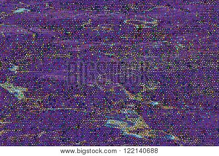 An abstract purple mosaic background, colourful shapes