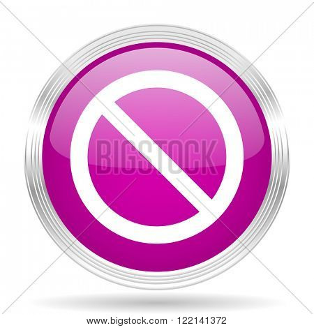 access denied pink modern web design glossy circle icon