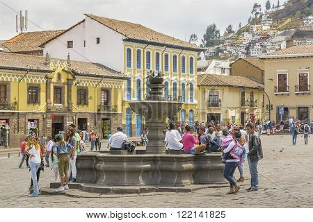 San Francisco Square Quito Ecuador