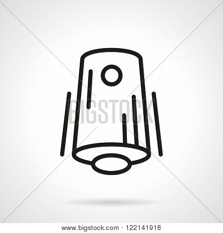Air freshener black line vector icon