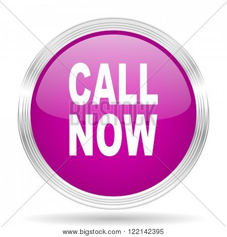 call now pink modern web design glossy circle icon