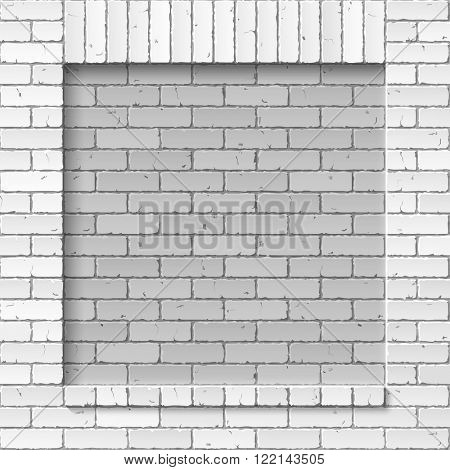 Brick masonry wall background. Vector illustration.