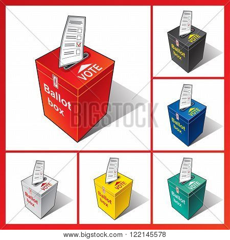 Ballot box. Ballot. Vote, election, politics, democracy, referendum.