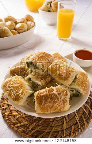 Brazilian Snack. Escarole Endive Snacks.