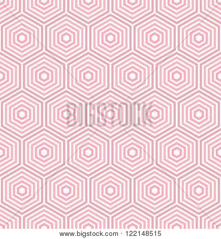 Geometric fine abstract vector hexagonal colored background. Seamless modern pattern