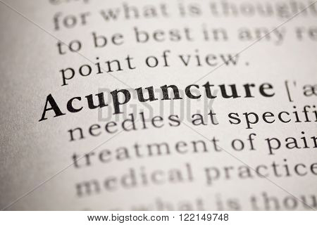 Fake Dictionary Dictionary definition of the word Acupuncture.