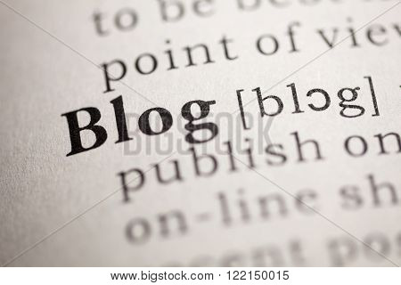 Fake Dictionary Dictionary definition of the word Blog.
