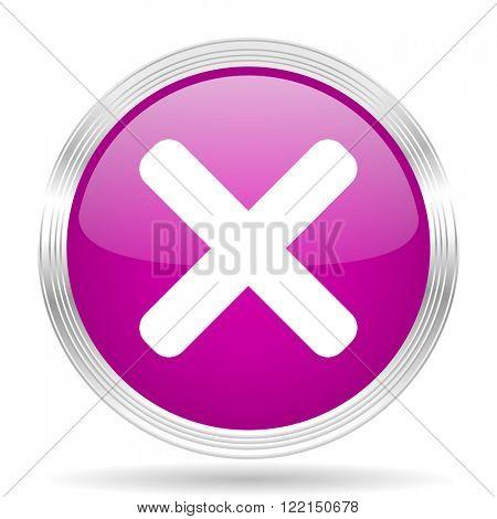 cancel pink modern web design glossy circle icon