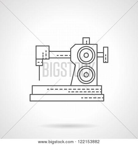 Dressmaking equipment flat thin line vector icon