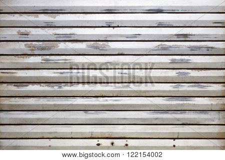 Closed overhead door background texture