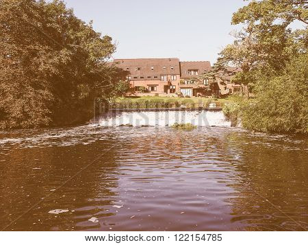River Avon In Stratford Upon Avon Vintage