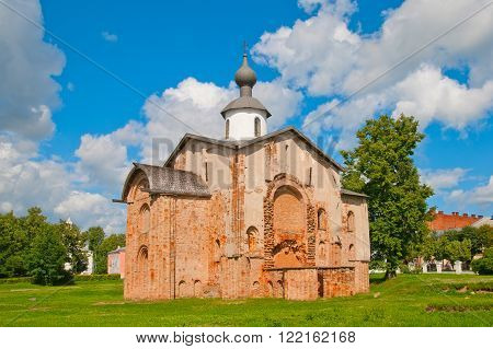 Church of St. Paraskevi  Friday in Veliky Novgorod. Was built in 1207. It is one of the oldest churches in Russia. Located in historical center of Veliky Novgorod.