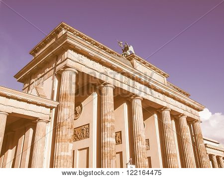 Brandenburger Tor Berlin Vintage