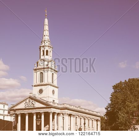 St Martin Church In London Vintage