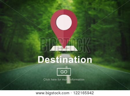 Destination Location Holiday Navigation Place Concept