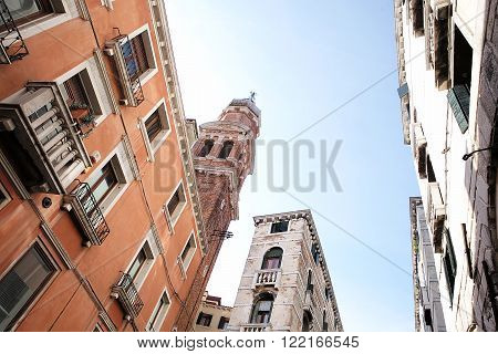 Venetian Architecture View From Bottom