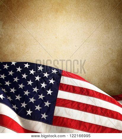 Waving flag of united states of america, north America