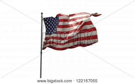 Waving flag of united states of america, north America