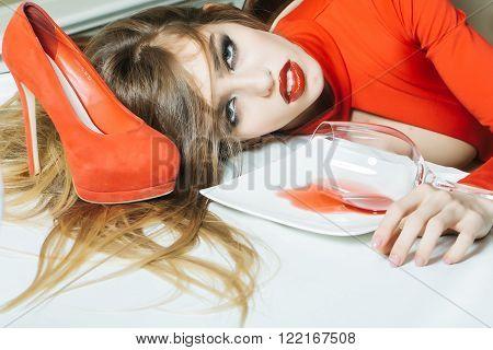 Glamour Drunk Girl