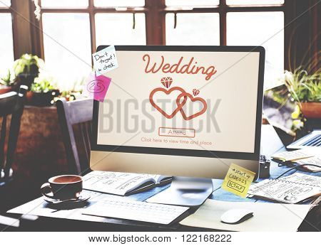 Wedding Day Celebration Ceremony Love Concept