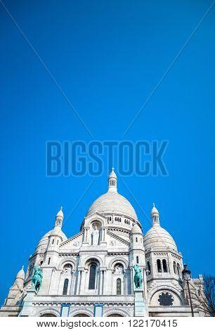 The Sacre-Coeur church in Montmartre,paris.