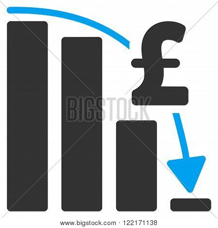 Pound Financial Epic Fail vector icon. Pound Financial Epic Fail icon symbol. Pound Financial Epic Fail icon image. Pound Financial Epic Fail icon picture. Pound Financial Epic Fail pictogram.