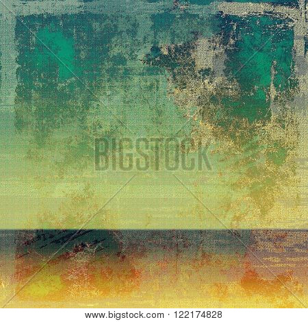 Grunge background or vintage texture in traditional retro style. With different color patterns: yellow (beige); brown; green; red (orange); cyan